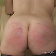 Cute fille gets her rump spanked