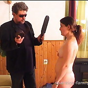 Dissolute dame gets atrocious whips on her keister