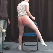 Voluptuous dame gets savage whips on her bum