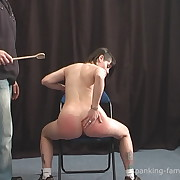 Raunchy miss gets cruel spanks on her rear