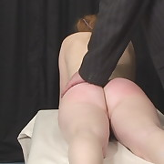 Voluptuous lassie gets callous whips on her buttocks