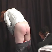 Lovely girl has her posterior spanked