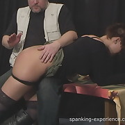 Filthy wench gets callous spanks on her cheeks