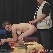 Lecherous femme has cruel spanks on her derriere
