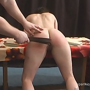 Prurient broad has depraved whips on her buttocks