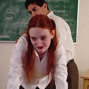 Slutty chick gets her plump arse spanked