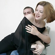 Frying hot momma gets spanked unconnected with a younger stud