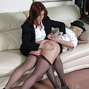Bad office-holder girl spanked otk