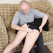 Dissipated wife spanked otk and paddled