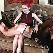 Hard female spanking
