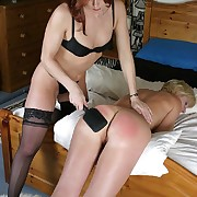 Female spanking with transmitted to nook