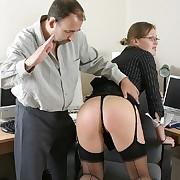 Outcast secretary gets spanked otk