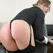 Bad secretary gets spanked otk