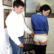 Lustful widely applicable has callous spanks on her derriere