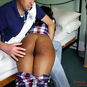 Danielle spanked and slippered