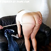 Filthy doll gets hellish spanks on the brush gluteus maximus