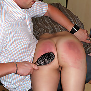 Hurtful babe gets their way backside flogged