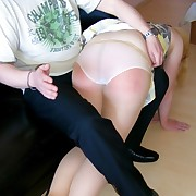 Dissolute son has derisory spanks on her glutes
