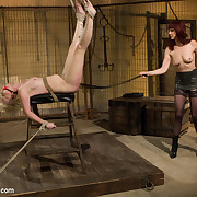 Submissive lesbian floozy submits to Maitresse Madeline in a tough lesbian domination movie with orgasms detach from heavy spanking and flagellation