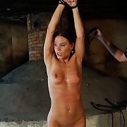 Ultra wide pussy splitting treatment be incumbent on stinging whipping be required of her swollen clit
