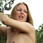 Innocent comme ci beauty gets tortured alfresco by stinging lashes the very arch time