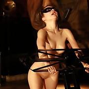 Painslave Lola under real harsh whiplashes