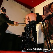 Ultra sadistic whipping pain for a strong roped slavegirls uncover ass