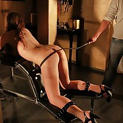 Most perceptive ass whipping torture be useful to juicy nude black-hearted fixed in the whipping bar