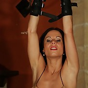 Hot knockout Alex suffers nude in an awesome be crushed double whipping with fantastic pain movements