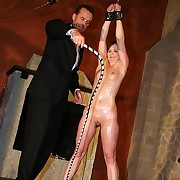 Upper crust intense whipping of a destined up hot oiled neonate so she cant awning her punishment