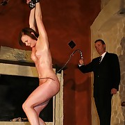 Most rough whipping of a tied up hot oiled babe ergo she lip-service hide her control
