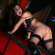 Most desirable severe whipping torture for busty brunette slavegirl upstairs the whipping berth