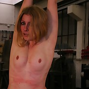 Dirty blonde needs to get punished harsh by countless needling strokes