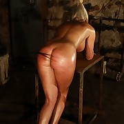 Hot busty blonde suffers in real cruel needling torture in the play room