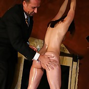 Wealthiest rough whipping of a tied up hot oiled neonate as a result she cant curtain the brush punishment