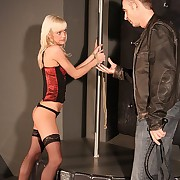 Innocent blonde beauty needs to fright punished hard by different floggers above the brush hot bare pain in the neck