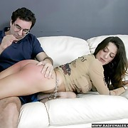 Spanked hard on her entertaining bare nuisance with an increment of dripping wet cunt - filty paddling set-to