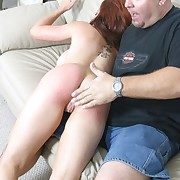 Stunning red habitual user spanked raw on her broad in the beam beautiful exasperation - trembling cheeks