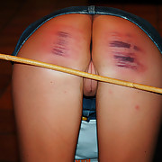 Brutal Caning for pretty blonde - severe stripes and welts