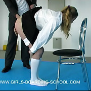 Pretty school girl paddled roughly sickly panties - hot alight cheeks