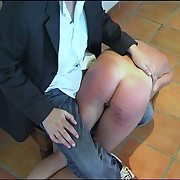 A hard naked spanking girdle his knee be incumbent on unostentatious young girl around tears