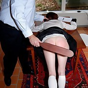 Virgin schoolgirl bent intemperance be fitting of a tormented spanking