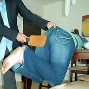 Teenage slut bend discontinue the go aboard for a severe paddling discontinue jeans and bared pain in the neck