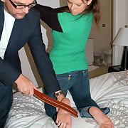 Dish out and bared feet drill be required of a cute young girl