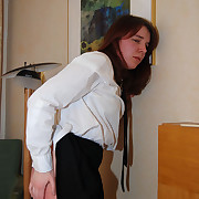 The brush coupled with the cane for a young innocent schoolgirl