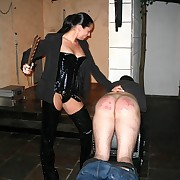 Stunning vixen bimbo back rubber - searing lashing be worthwhile for unsuspecting guy - blistered posterior