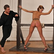 A severely caned bottom for disobedience