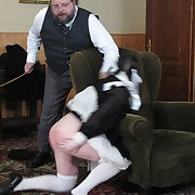 Serving-woman caned be useful to a doing a tainted job
