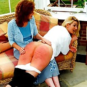 Chesty slut caned up the pampered - hot rippling nub