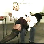 Pretty school cookie undecorated with regard to to her school pants and spanked hard otk